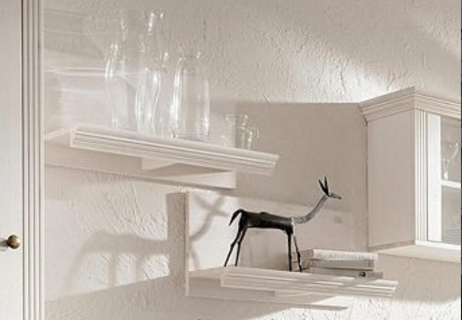 wandregall aus kiefernholz wei lackiert. Black Bedroom Furniture Sets. Home Design Ideas