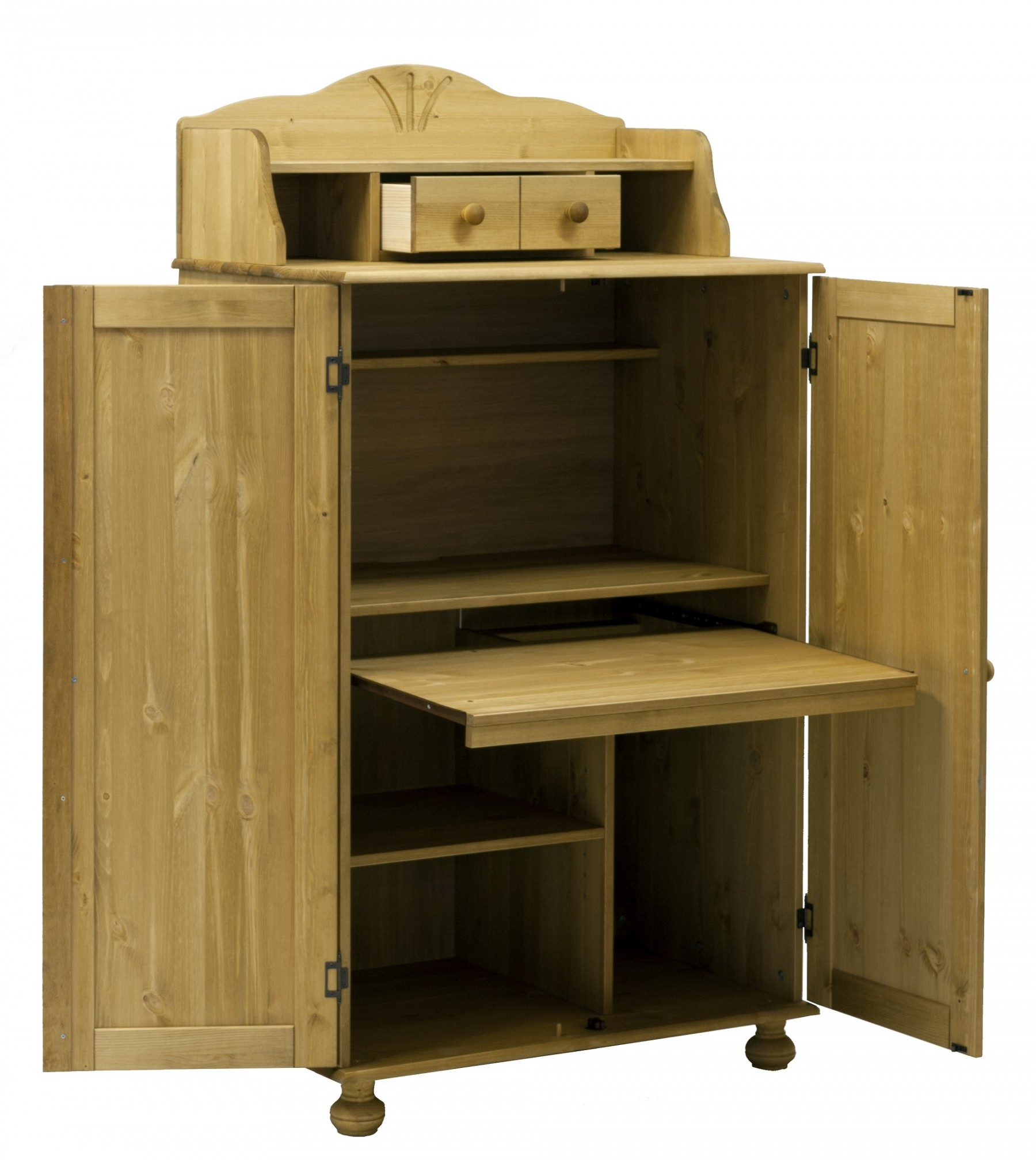 pc schrank aus massiver kiefer gelaugt ge lt. Black Bedroom Furniture Sets. Home Design Ideas
