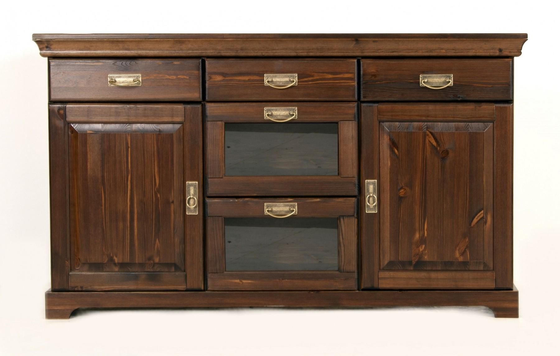 buffet sideboard mit aufsatz schrank anrichte kommode. Black Bedroom Furniture Sets. Home Design Ideas