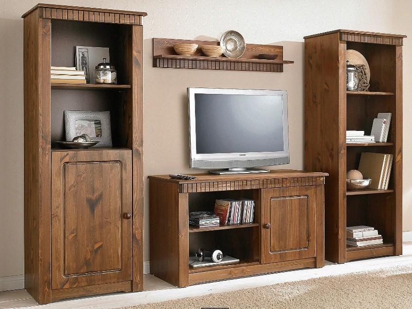 b cherregal aus kiefernholz gelaugt ge lt. Black Bedroom Furniture Sets. Home Design Ideas
