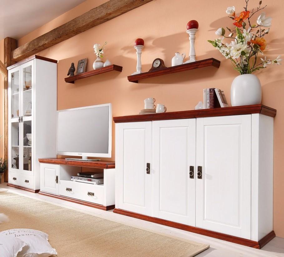 wandregall aus kiefernholz kirschbaumfarben lackiert. Black Bedroom Furniture Sets. Home Design Ideas