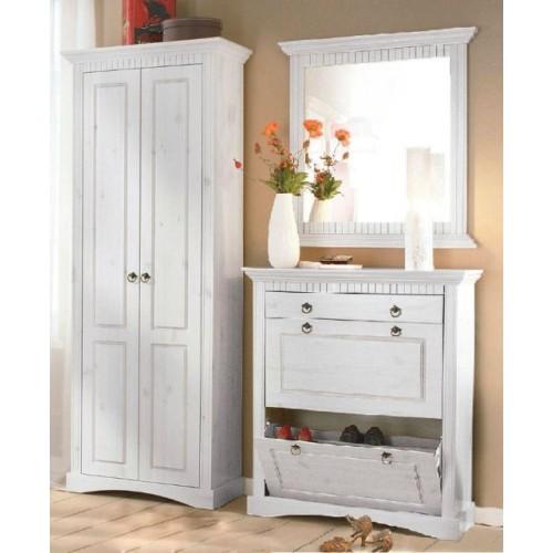 3tlg garderobenset wei. Black Bedroom Furniture Sets. Home Design Ideas
