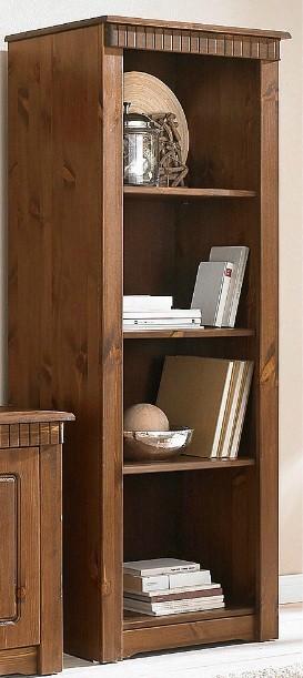 Bücherregal aus Kiefernholz,  kolonialfarben