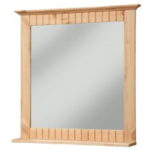 Spiegel aus Kiefernholz gelaugt/geölt, Badspiegel