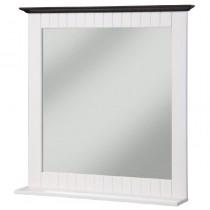 Spiegel aus Kiefernholz weiß/braun, Badspiegel