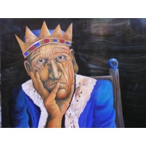 """Bild """" Der König"""" 80x100cm"""