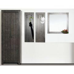 4-tlg. Garderoben-Set aus massiver Kiefer