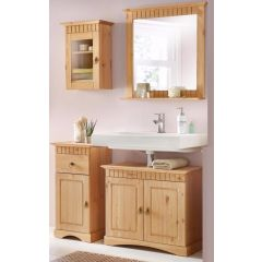 4 tlg Badmöbel- Set aus Kiefernholz gelaugt/geölt, Badschrank, Badschränke