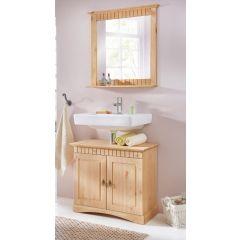 2 tlg Badmöbel- Set aus Kiefernholz gelaugt/geölt, Badschrank, Badschränke