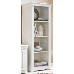 Bücherregal aus Kiefernholz,  weiß
